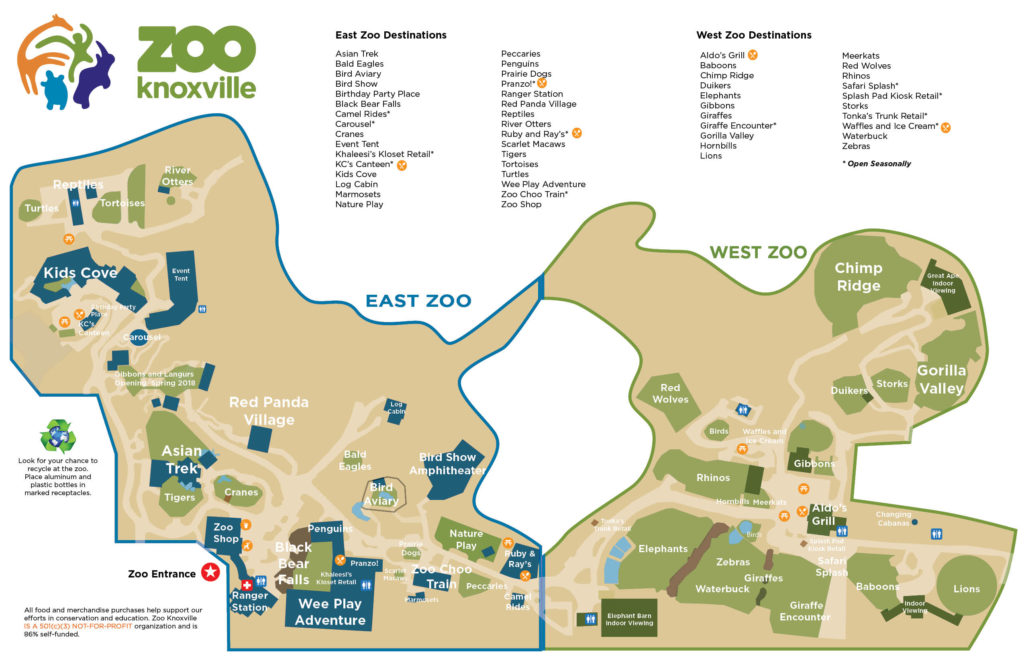 Zoo Map Zoo Knoxville